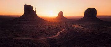 Navajo Silhouetten van Joris Pannemans - Loris Photography