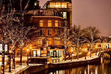 Leiden Vismarkt Winter 2019 von Frans Nijssen