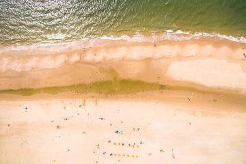 Strandleven vanuit de Lucht van dron inger