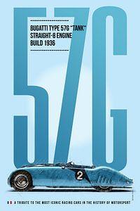 Bugatti 57G, Le Mans