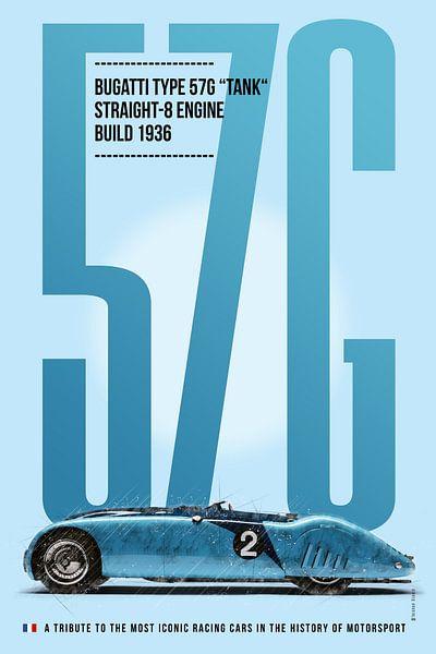 Bugatti 57G, Le Mans von Theodor Decker