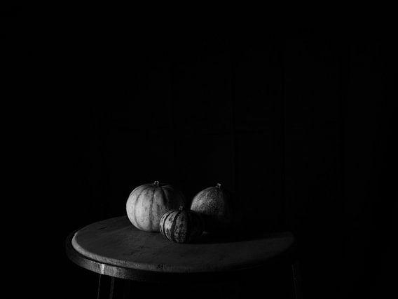 Drie pompoenen