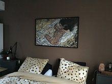 Kundenfoto: Die Umarmung, Egon Schiele , auf leinwand