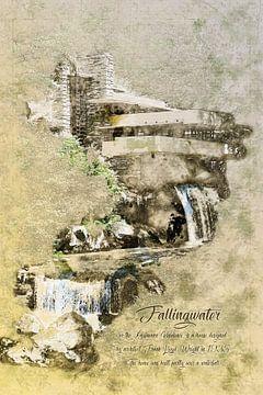 Fallingwater, Frank Lloyd Wright, Hochformat von Theodor Decker