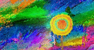 Sommerbaum-Mosaik van Marion Tenbergen