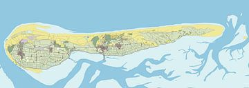 Kaart van Ameland