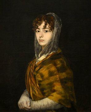 Francisca Sabasa y Garcia - Portret vrouw oude meester van Francisco Goya (gezien bij vtwonen)