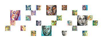 Gezichten in beweging van ART Eva Maria