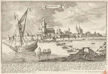 Gezicht op Deventer, Gaspar Bouttats, naar Jan Peeters, 1679