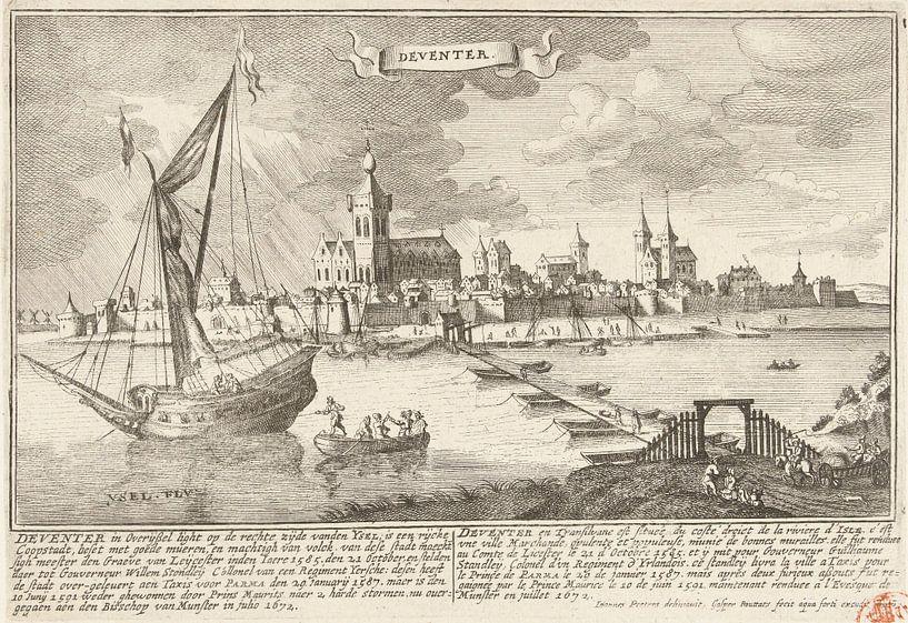 Blick auf Deventer, Gaspar Bouttats, nach Jan Peeters, 1679 von Meesterlijcke Meesters