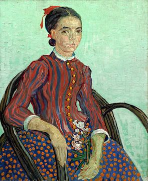 Vincent van Gogh, La Mousme, dutch, impressionism, post-impressionism, post-impressionist