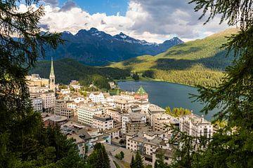 St. Moritz im Engadin in der Schweiz von Werner Dieterich