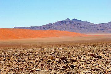 Surrealen Wüstenlandschaft, Sossus Vlei, Namibia von Inge Hogenbijl