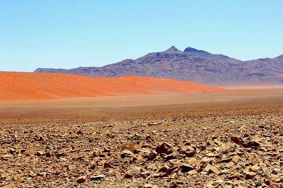 Surrealisme woestijn landschap, Namibie van Inge Hogenbijl