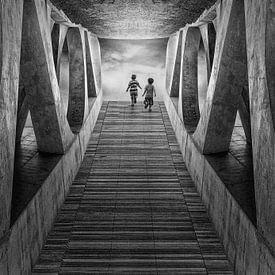 Licht im Tunnel von Marcel van Balken