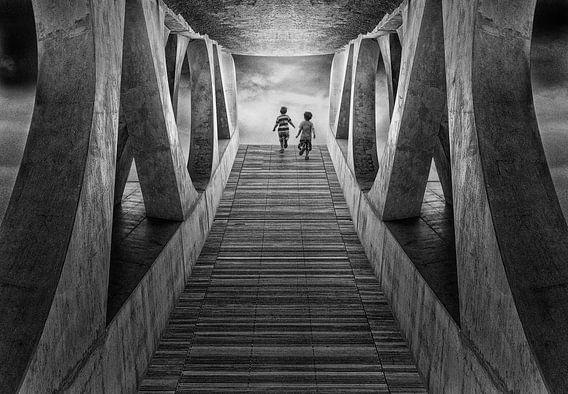 Licht in de tunnel van Marcel van Balken