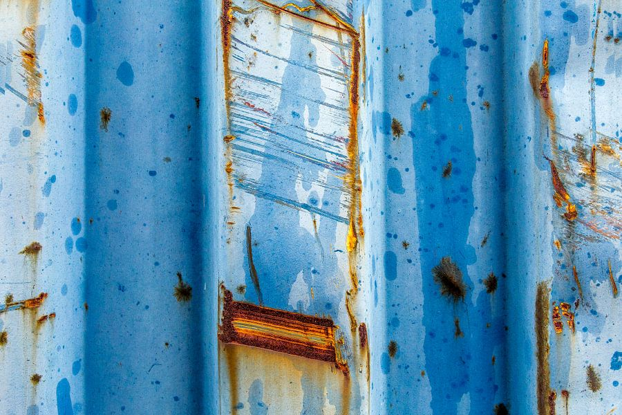 Roestig blauw en bruin - studie 3a van Texel eXperience