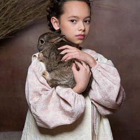 Meisje met konijn van Carine Belzon