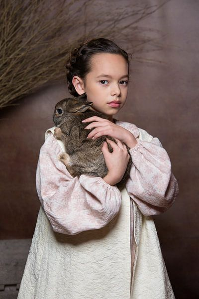 Meisje met konijn sur Carine Belzon