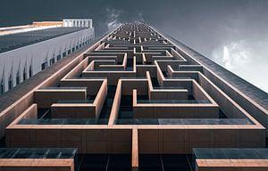 Doolhof gebouw in Dubai