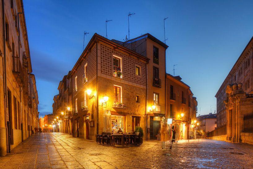 Altstadt, Abenddämmerung, Häuser, Straße, Salamanca, Spanien, Europa von Torsten Krüger