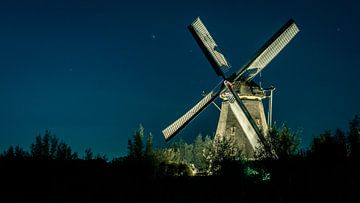 Mühle in der Nacht 2 von Henri van Avezaath