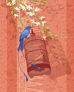 Blue bird [blauer Vogel] von Ingrid Joustra