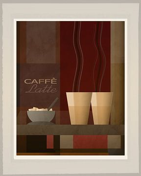 Caffe Latte - Art Deco van Joost Hogervorst