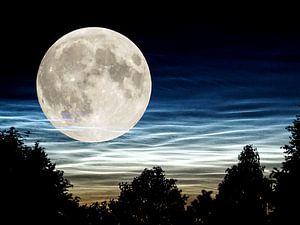NachtwolkenMond von Ab Wisselink