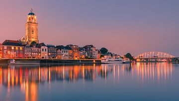 Deventer an der IJssel im Abendlicht
