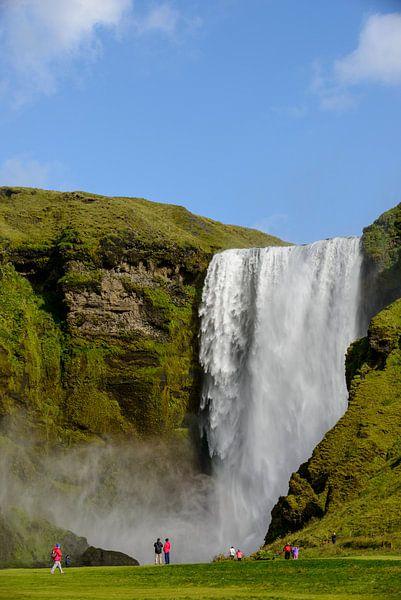 Skogafoss waterval van Sjoerd van der Wal