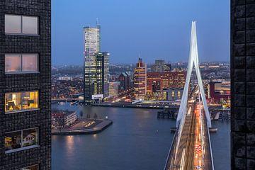 Erasmusbrücke von Zalmhaven aus von Prachtig Rotterdam