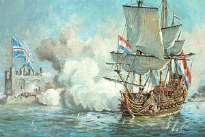 L'attaque de Chatham en juin 1667 sur Maritiem Schilder Arnold de Lange