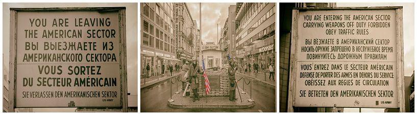 Checkpoint Charlie Berlijn van Peter Bartelings