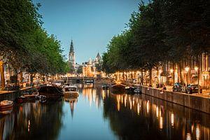 Amsterdam | Nieuwmarkt en Zuiderkerk op een zomeravond van Mark Zoet