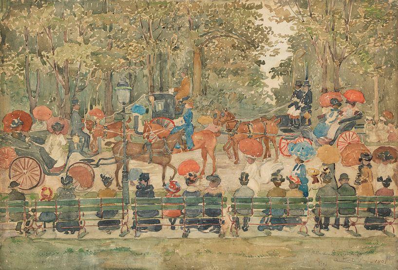 Maurice Prendergast~Central Park, 1901 von finemasterpiece
