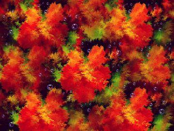 Rotes Blumenmeer van Heidrun Carola Herrmann