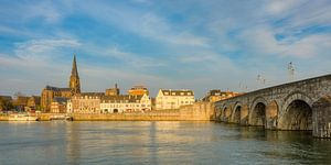 Maastricht in the evening light