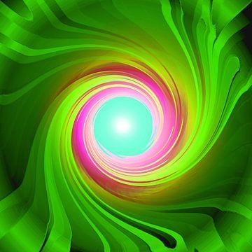 Grüne Energie-Spirale van Ramon Labusch