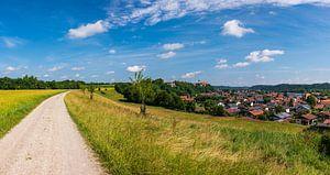 Piste cyclable vers l'église du monastère de Baumburg sur Peter Baier