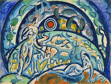 Adam et Eva, WLADIMIR BARANOFF-ROSSINÉ, 1910-1911 van Atelier Liesjes