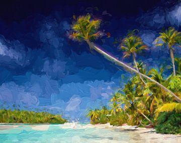 Paradise beach van Patrick Hoenderkamp