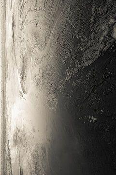 Nahaufnahme des Wattenmeers von Aron Weidenaar
