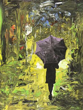 Marcher sous la pluie sur Natalie Bruns