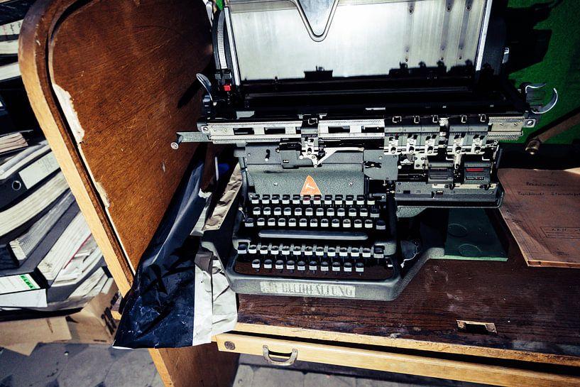 Oude typemachine van Franziska Pfeiffer