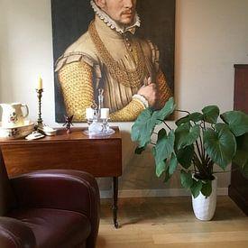 Kundenfoto: Porträt eines Mannes, Anthonis Mor van Dashorst, auf leinwand