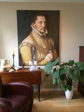 Kundenfoto: Porträt eines Mannes, Anthonis Mor van Dashorst
