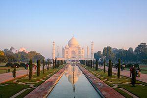 Taj Mahal op een vroege ochtend van Martijn Mureau