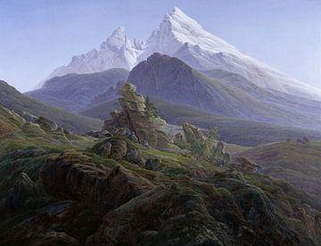 Le Watzmann, Caspar David Friedrich sur