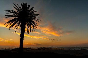 Campings Bay zonsondergang van Andreas Jansen